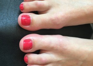 Shellac op teennagels bij Care 4 Your Nails