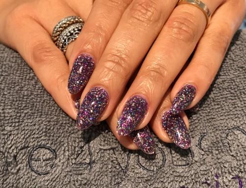 Acryl nagels glitters 1