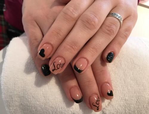 Acryl nagels met Nail Art